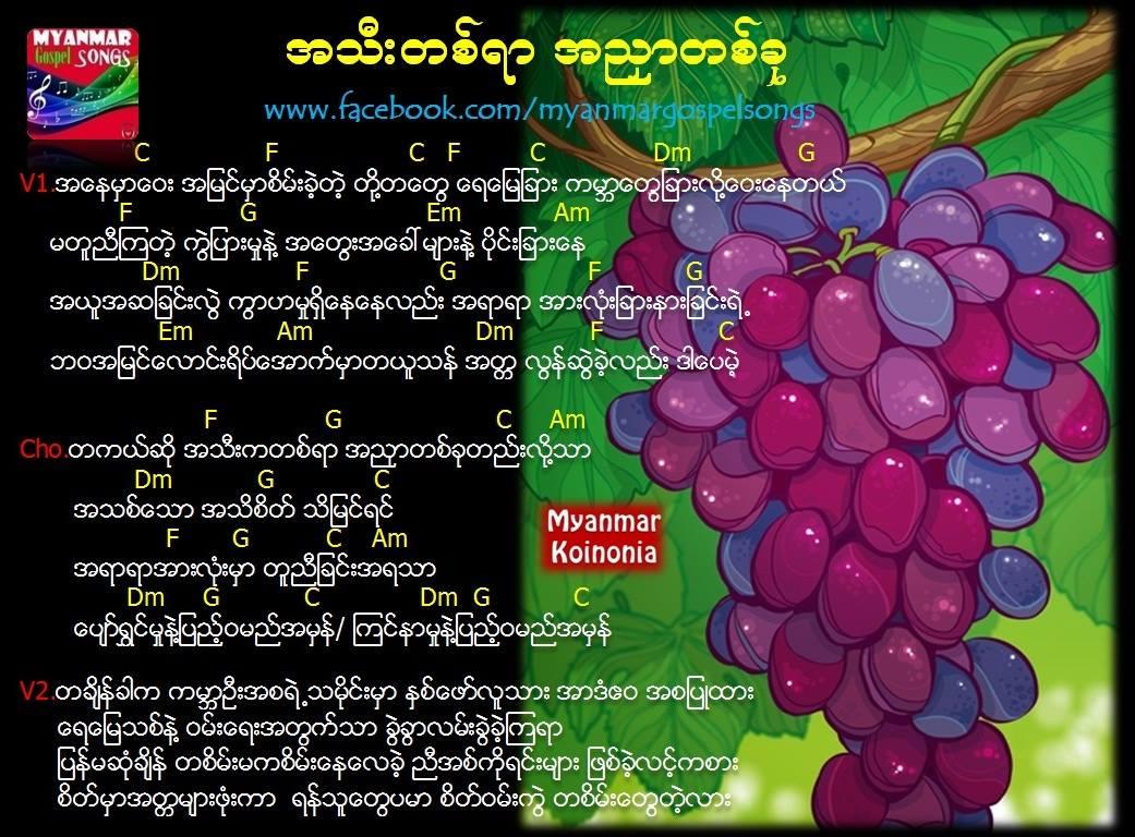 အသီးတစ်ရာအညှာတစ်ခု (MM3) | အသီးတစ္ရာအညွာတစ္ခု (ZG)